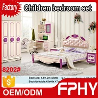 FPHY manufactuer Children Teen bedroom set factory supply wooden pillar bed