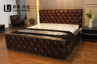 High quality new style solid wood bed with drawers
