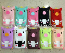 Crown pig silicone case skin cover for iphone 3g 3gs