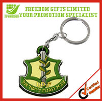 Cheapest Price Top Quality Custom Logo Rubber Keychain