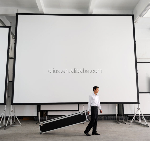 quick fold screen easy folding projection screen 4:3 and 16:9