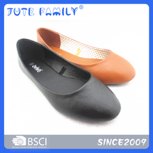Latest flats cheap leather shoes for women 2016