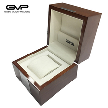 Unique design wooden watch box with gloss lacquer painting for single watch