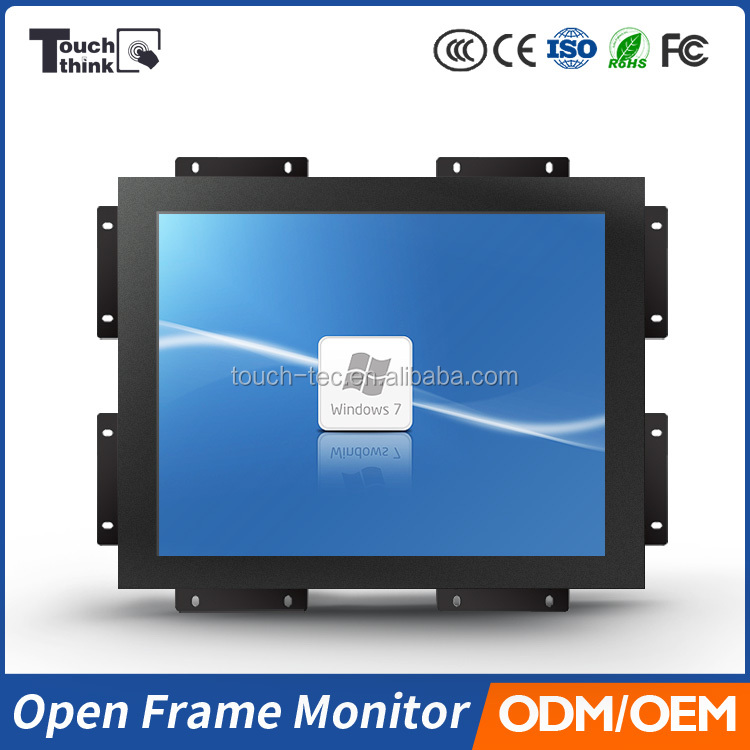 "rugged industrial LCD monitor 15"""" industrial flat panel mount LCD monitor"