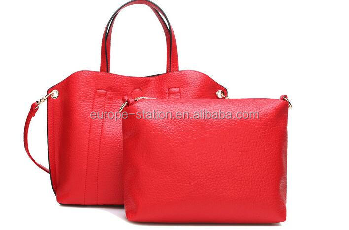 Lichee Pattern leather hand bags shoulder bags wholesale Guangzhou handbags