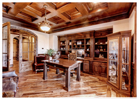 Customized Study room/Office Mahogany/Cherry/Oak/Black walnut solid Wood furnitures