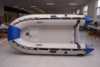 SANJ PVC Hull Inflatable Boat with Air Mat Bottom