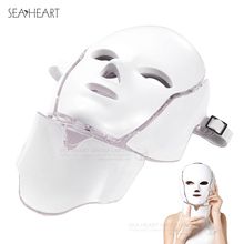 7 Color EMS Microelectronics LED Face Neck Mask LED Mask for Wrinkle Removal