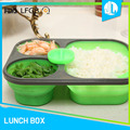 Eco FDA / LFGB silicone safety children lunch box