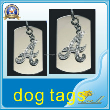 Custom hot products beauty letter A personalized dog tags