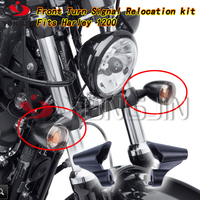 For harley motorcycle parts,Left and Right Mounts Front Turn Signal Relocation Kit fits'10-'15 XL1200X models