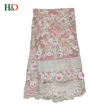 H & D Wholesale Best Cotton Textile Material Fabric Patterns African Lace Fabrics Of Evening Dress