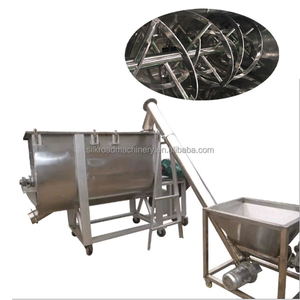 horizontal spice food flour powder mixer machine