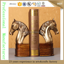 custom decorative resin horse head sculpture bookend home decorations statue for sale