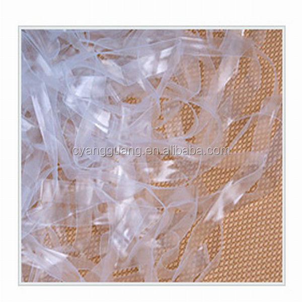 Wide flat clear mobilon tape&elastic cord