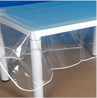 PVC/Vinyl farbic binding/lace edge tablecloth