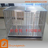 customizable large folded stainless steel pet cage SED1-005