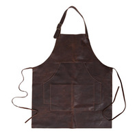 Korean Fashion Top Quality Latest Design Kitchen Cooking Chef Carpenter Leather Apron