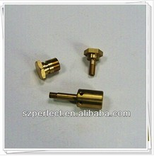 Mechnical CNC turning machined brass parts,precision CNC automatic lathe machining brass 3D printer nozzle component