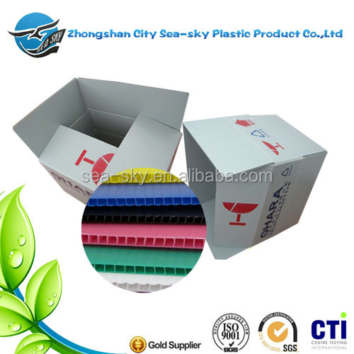 folding plastic box for the food packing/plastic box for the electric part packing