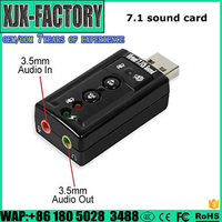 New product 2017 7.1 usb sound card from china supplier