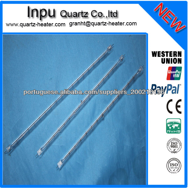 Low power consumption, high energy efficiency halogen heating tube