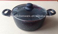 marble coating aluminum dutch oven