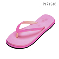 Pink Girl Lady Flip Flops Wedding Customize Your Message On insole