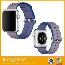 Fashionable Woven Nylon watch strap for apple watch band With Adapter Connector band for apple watch