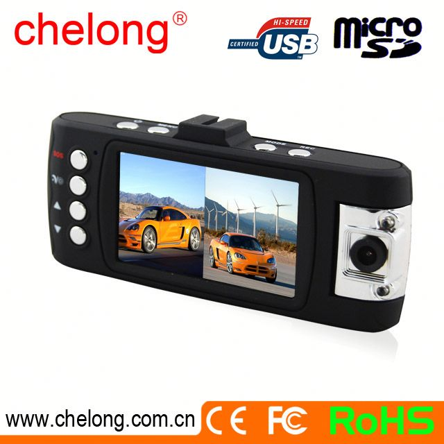 OV9712 sensor H.264 car night vision dual lens camera Motion detection car front and rear camera