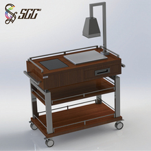 all types of service trolley luxury hotel catering beef cutting trolley