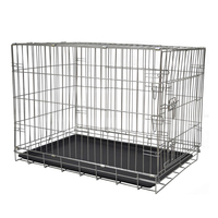 China galvanized folding iron wire large heavy duty dog cage MHD005