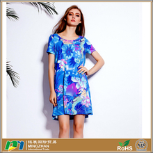 Wholesale Fashion Clothes woman short Sleeve Dress