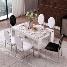 Malaysia dining room modern black glass mirrored dining table