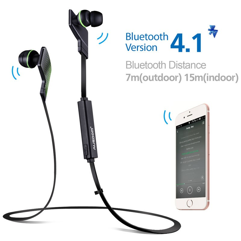Free samples bluetooth earphone wireless sport bluetooth 4.1 headphone mobile earphones stereo bass sound for samsung