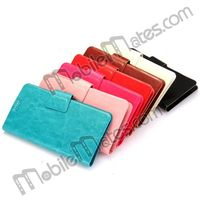 13.5x8cm Universal Mobile Phone Leather Case Flip Pouch for Samsung Galaxy note3/S5/S4/S3 With Touch Screen