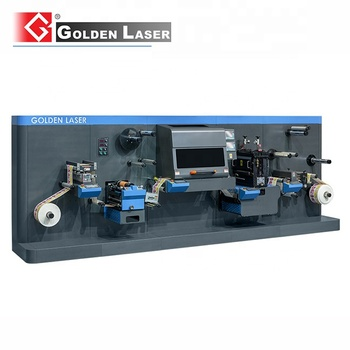 Roll to Roll Printed Label Kiss Cutting Machine LC350 Laser Cutting