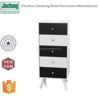 White and black morden wooden decorative storage cabinet chest