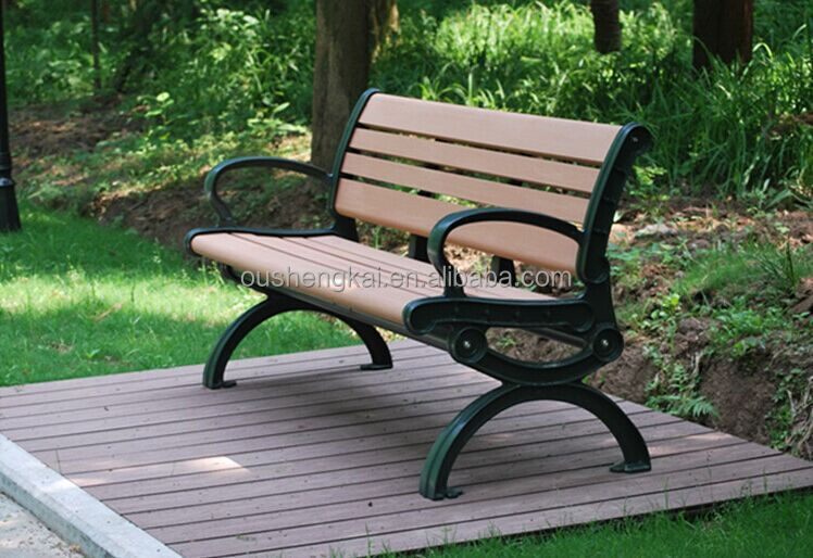 European style eco-friendy wpc park benches outdoor garden benches and chiar