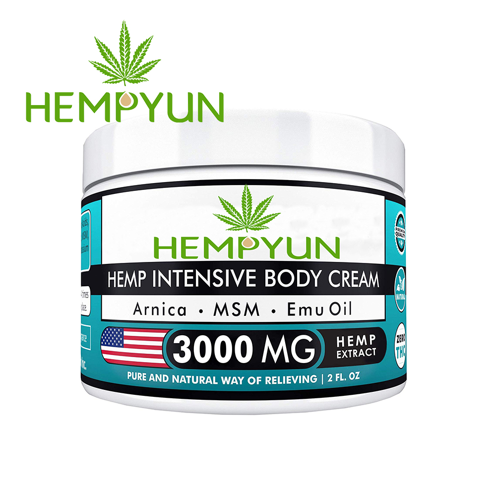 Hemp oil CDB <strong>cream</strong> for stress and pain relief 500mg,1000mg,2000mg,3000mg