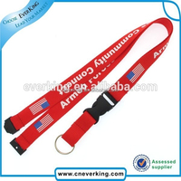 2015 most popular international nice flag lanyards customized with mobile accessories