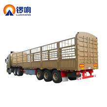 China factory 3 axle 60 ton truck cargo stake van semi fence trailer