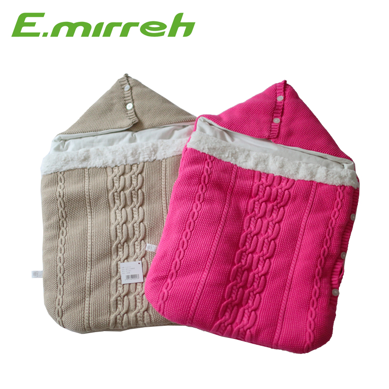High quality quilted cotton knitted stroller baby newborn sleeping bag
