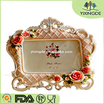 Resin handicraft resin photo frame European rural roses photo frame