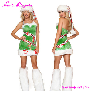 Strapless Green Hat and Foot Cover Adult Party City Christmas Costumes