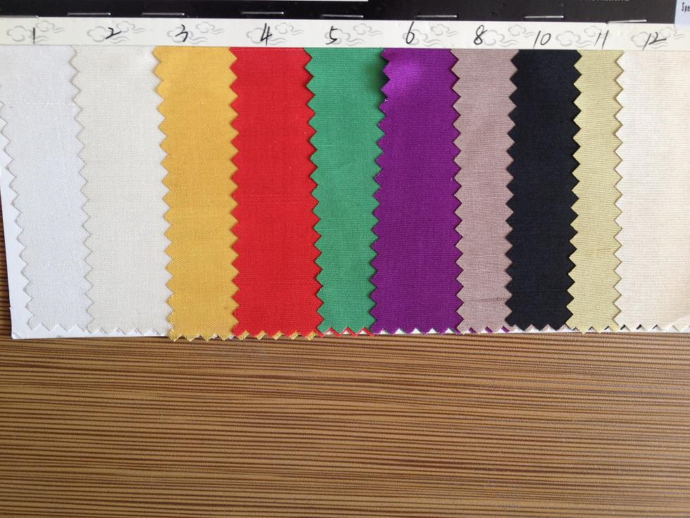 12.5m/m dupioni silk fabric in stock colors