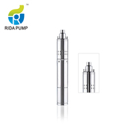 "China best price high capacity axial flow vertical 50m head 3"" 4"" single 3 phase deep well submersible mini water pump"