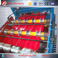 Easy Operate System Rectangle Wave Steel Sheet Panel Roofing Roll Forming Machine tile Making Machine