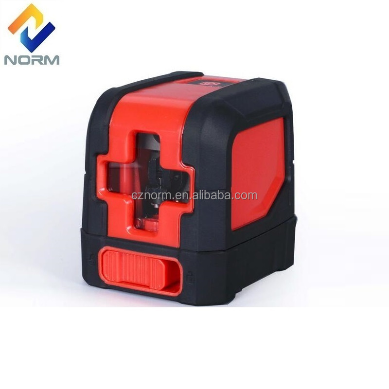 portable two cross line red beam laser level