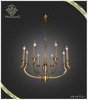 2015 Hot sale hotel lighting classic golden electrophoresis pendant candle light